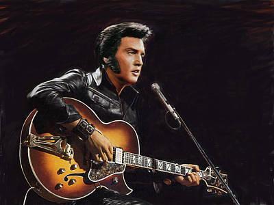 Elvis Presley Art Print by Dominique Amendola