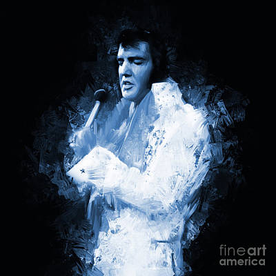 Famous Hotel Painting - Elvis Presley 01 by Gull G