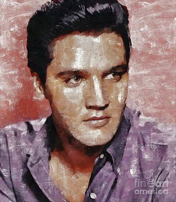 Music Paintings - Elvis Presley, Legend  by Esoterica Art Agency