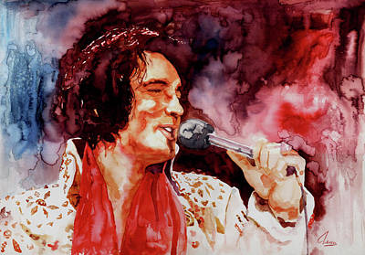 Las Vegas Artist Painting - Elvis Presley by Marcelo Neira