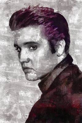Elvis Presley Painting - Elvis Presley by Mary Bassett