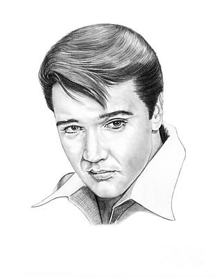 Person Drawing - Elvis Presley  by Murphy Elliott