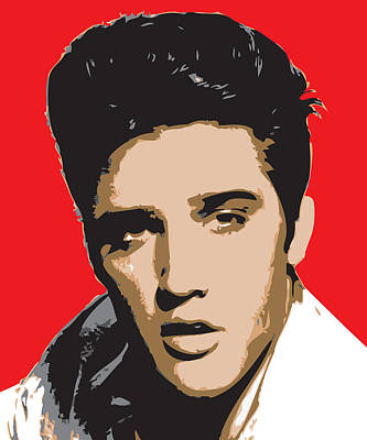 Elvis-presley - Pop Art Portrait Art Print by Martin Deane
