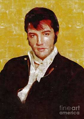 Rock And Roll Royalty-Free and Rights-Managed Images - Elvis Presley y MB by Mary Bassett