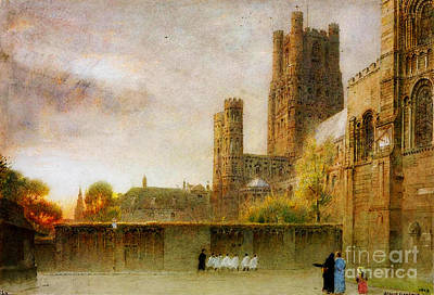 Old Church Painting - Ely Cathedral by Celestial Images
