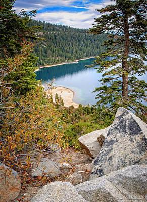 Mountain Photograph - Emerald Bay Lake Tahoe by LeeAnn McLaneGoetz McLaneGoetzStudioLLCcom