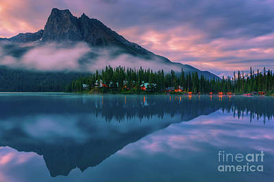 Emerald Lake At Sunrise Art Print by Henk Meijer Photography