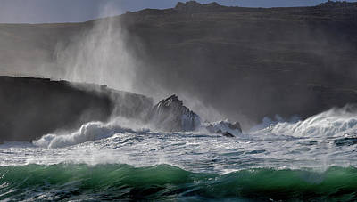 Photograph - Emerald Wave At Clogher by Barbara Walsh