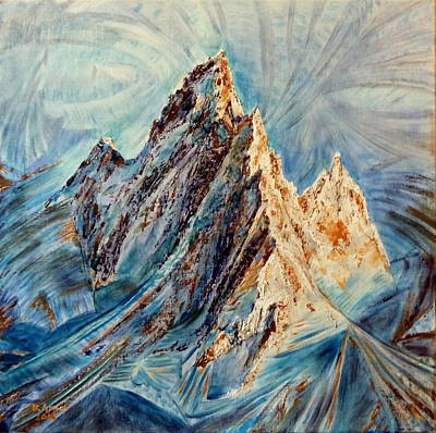 Chamonix Painting - Emergence by Danielle Arnal