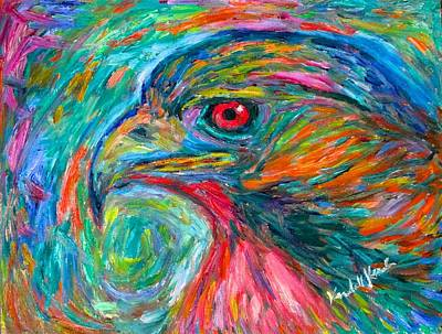 Painting - Emerging Hawk by Kendall Kessler
