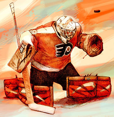 Philadelphia Flyers Digital Art - Emeryrework by Steve Benton