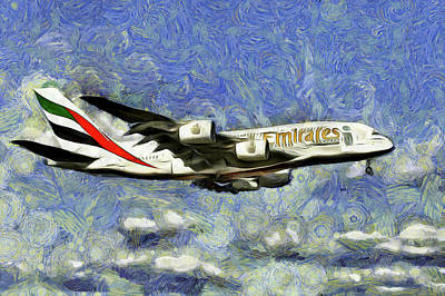 Photograph - Emirates A380 Airbus Art  by David Pyatt