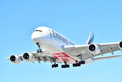 Photograph - Emirates A380 by Puzzles Shum
