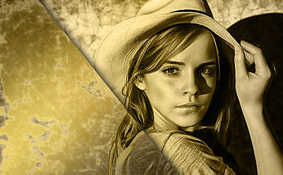 Emma Watson Collection Art Print by Marvin Blaine