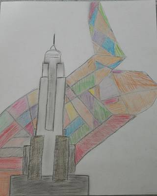 Empire State Building Drawing - Empire State by Jorgia Rainford