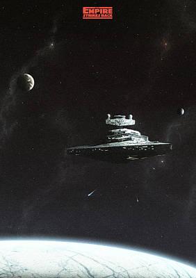 Empire Strikes Back Art Print by Colin Morella