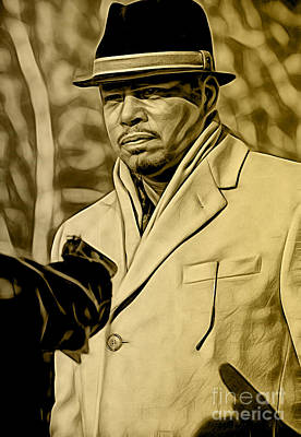Mixed Media - Empire's Terrance Howard As Lucious Lyon by Marvin Blaine