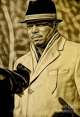 Pop Mixed Media - Empire's Terrance Howard As Lucious Lyon by Marvin Blaine