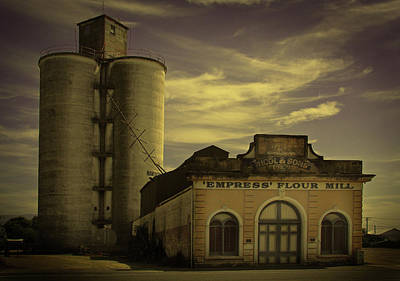 Photograph - Empress Flour Mill And Silos by Nareeta Martin