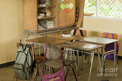 Photograph - Empty Classroom In Suriname  by Patricia Hofmeester