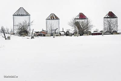 Photograph - Empty Corn Cribs by LeeAnn McLaneGoetz McLaneGoetzStudioLLCcom