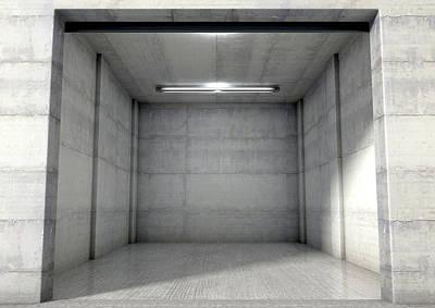 Empty Single Garage Art Print by Allan Swart