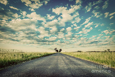 Rural Photograph - Empty Straight Long Asphalt Road. Concepts Of Travel, Adventure, Destination, Transport Etc. by Michal Bednarek