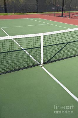Empty Tennis Court Art Print by Thom Gourley/Flatbread Images, LLC