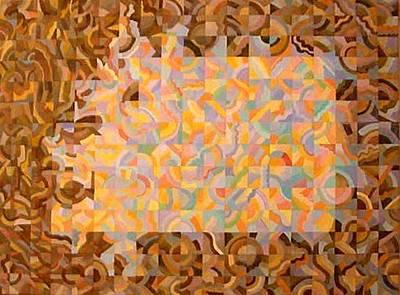 Painting - Encroaching Darkness Emerging Light by Bernard Goodman
