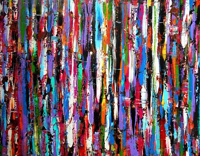 Vivid Colour Painting - Energy Large Work by Angie Wright