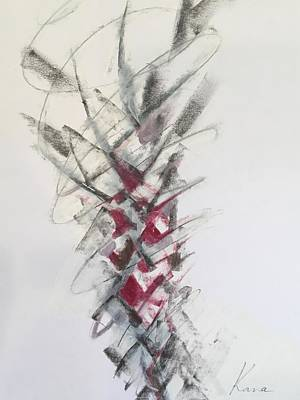 Drawing - Energy,abstract Art Print  by Kanako Kumamaru