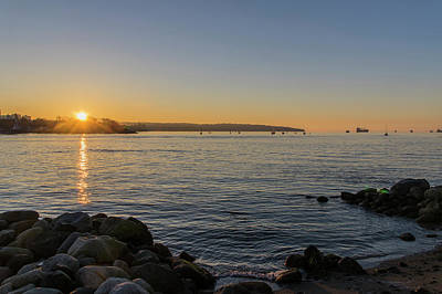 Photograph - English Bay Sunset by Ross G Strachan