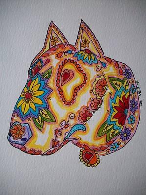 English Bull Terrier Painting - English Bull Terrier  by Teresa Hales