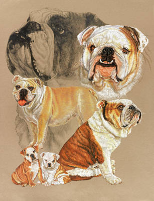 Sporting Mixed Media - English Bulldog W/ghost by Barbara Keith