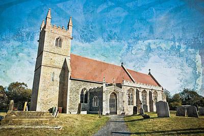 English Church Art Print by Tom Gowanlock