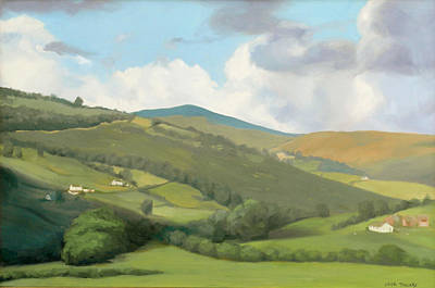 Painting - English Countryside by Linda Tenukas