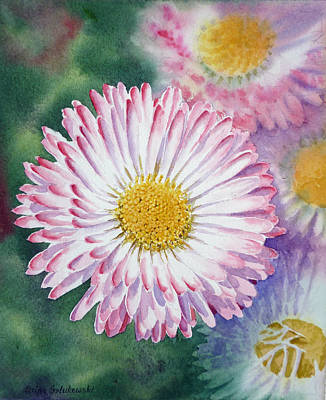 Painting - English Daisies by Irina Sztukowski