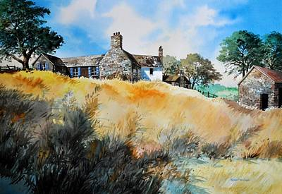 Painting - English Farmhouse by Robert W Cook