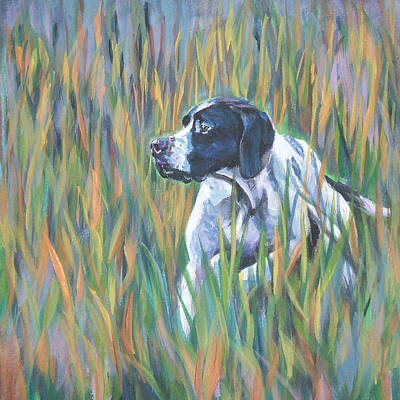 Painting - English Pointer by Lee Ann Shepard