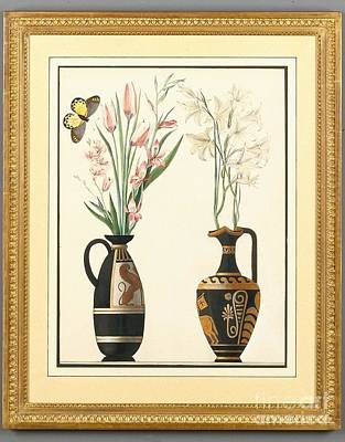 Two Vases Painting - English School by MotionAge Designs