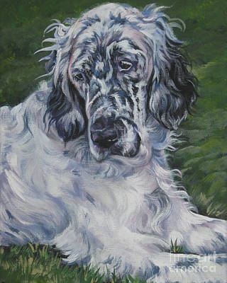 English Setter Painting - English Setter by Lee Ann Shepard