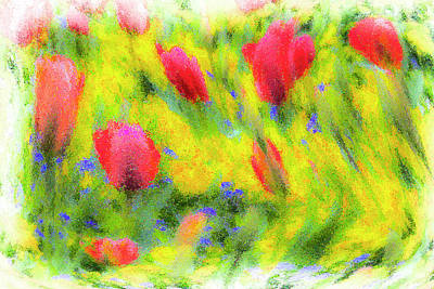 Photograph - English Summer Flowers Pastel by David Pyatt