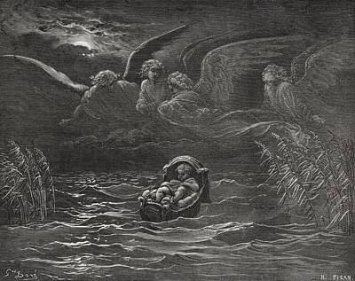 Bible Drawing - Engraving From The The Dore Bible by Vintage Design Pics