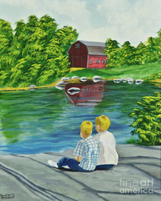 Painting - Enjoying A Country Day by Charlotte Blanchard