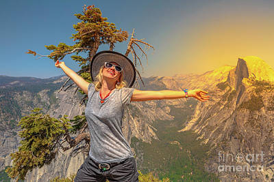 Photograph - Enjoying At Yosemite by Benny Marty