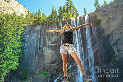 Photograph - Enjoying Vernal Fall Yosemite by Benny Marty