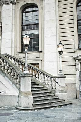 Upscale Photograph - Entrance Steps by Tom Gowanlock