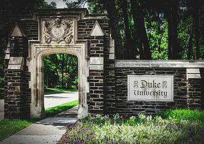 Photograph - Entrance To Duke University by Library Of Congress