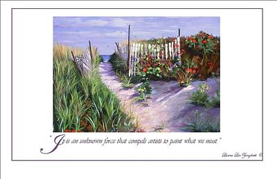 Purple Shadow Painting - Entrance To Nantasket by Laura Lee Zanghetti