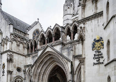 Photograph - Entrance To Royal Courts Of Justice London by Shirley Mitchell